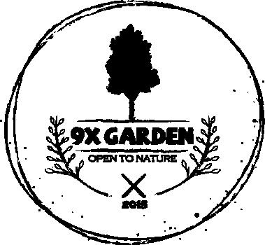 9X GARDEN logo